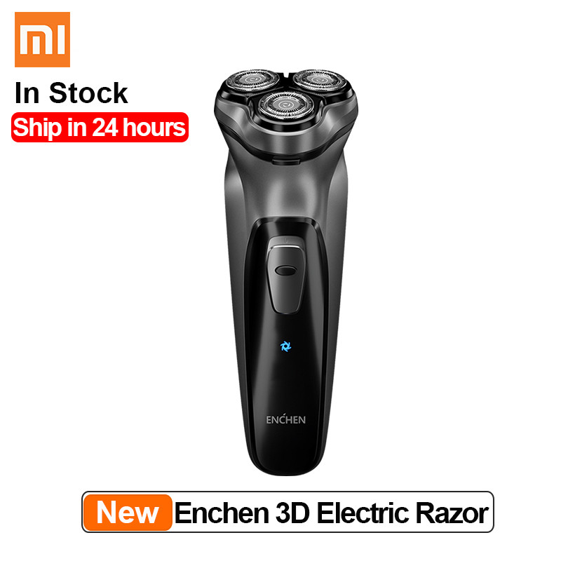 Image 2 - Xiaomi Enchen Black Stone 3D Electric Shaver 3 Floating Blocking Protection Rechargeable Beard Razor Trimmer Type C USB for Men    -