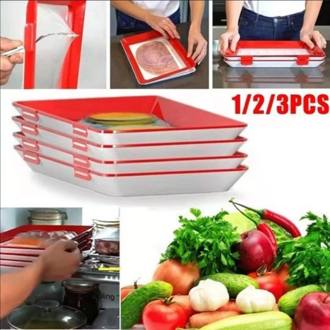 1/2/4/6/8 шт. креативный поднос для сохранения свежести продуктов органайзер для сохранения свежести продуктов холодильник для хранения еды