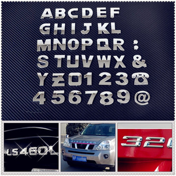 Car auto DIY Letter Alphabet number Stickers Logo for BMW E34 F10 F20 E92 E38 E91 E53 E70 X5 M M3 E46 E39 E38 E90 image