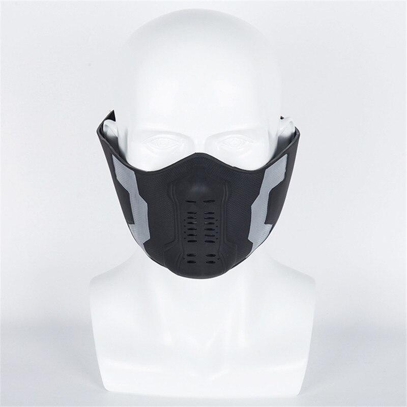 1pcs Captain America Winter Soldier Bucky Barnes Cosplay Mask Half Face The Avengers 3 Superhero PVC Props On Sale!!!
