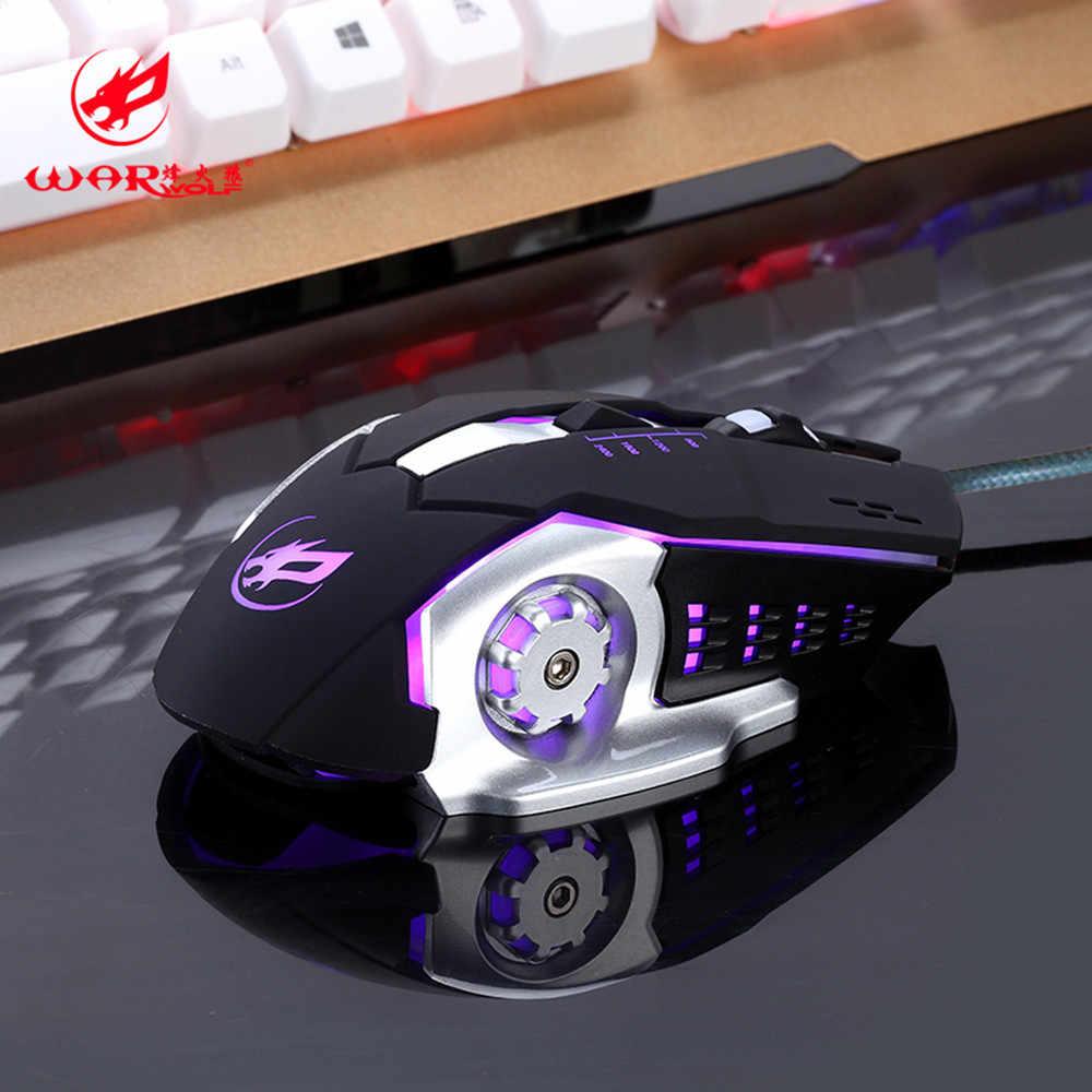 OMESHIN المهنية السلكية الألعاب ماوس 6 مفتاح 3200 ديسيبل متوحد الخواص USB الكمبيوتر الماوس تعريف الماكرو البرمجة لعبة الفأر فأرة للكمبيوتر