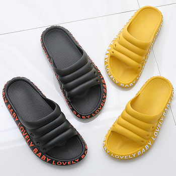 ASIFN Women's Beach Slippers Female Summer Slides Fashion Flip Flop Women Ladies Mules Non-slip Men House Soft Sole New Shoes 4