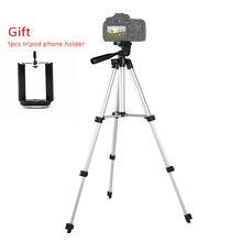 المحمولة خفيفة الوزن المهنية الألومنيوم كاميرا ترايبود لكانون نيكون سوني DSLR DV آيفون 7 X Redmi 8 7 الهواتف النقالة الذكية