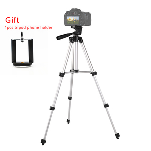 Image 1 - Trépied dappareil photo professionnel léger portatif en Aluminium pour le téléphone intelligent de liphone 7 X Redmi 8 7 de Nikon Sony DSLR DV