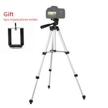 Tripé portátil de câmera profissional, leve, para canon, nikon, sony, dslr, dv, iphone 7 x, redmi 8, 7, smartphone telefone móvel