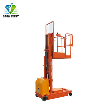 Self Propelled Electric Aerial Order Picker for Unloading Goods