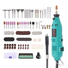 Goxawee mini broca elétrica 220v, gravador, velocidade variável, eixo flexível, 181pcs, acessórios, ferramentas elétricas para dremel