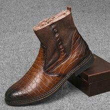 Boots Male Shoes Footwear Platform Winter Men Fashion Warm Plush Autumn Ankle High-Quality