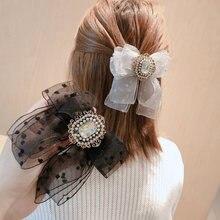 Заколки для волос с искусственным жемчугом женские модные заколки