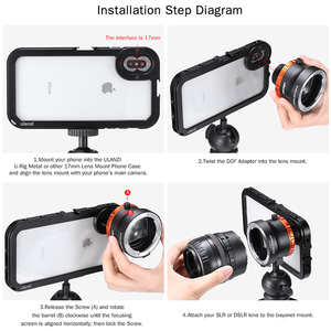 Image 3 - Ulanzi DOF Smartphone plein cadre caméra adaptateur dobjectif avec coque de téléphone EF monture objectif reflex DSLR caméra adaptateur dobjectif