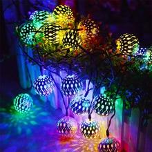 C2 LED string Night light Fairy Hollow LED Lights Wedding Holiday Decoration lights wrought iron ball romantic room Christmas
