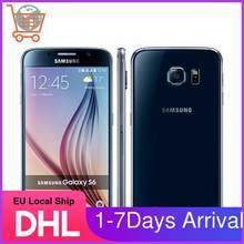 Samsung S6 odnowiony-oryginalny odblokowany S6 Android telefon komórkowy G920F G920V G920A G920P 3GB 32GB 5.1