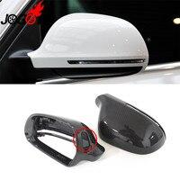 1:1 استبدال ألياف الكربون الحقيقي مرآة الرؤية الخلفية غطاء مرآة مصمم للسيارة أودي A3 S3 Sportback 8P 2009 2010-في مرآة وأغطية من السيارات والدراجات النارية على