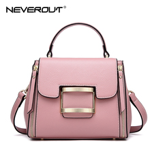 NEVEROUT 3 Color 2018 New Bag Style Vintage Lady Shoulder Bags Sac Women Bag Oil Wax Real Leather Female Flap Bags Handbags Tote