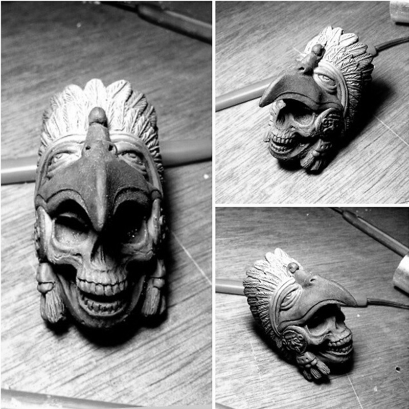 EYHIMD Alte Indische Aztec Adler Krieger Ring Schwere Herren Edelstahl Biker Schädel Ringe Punk Schmuck Geschenk für Ihn