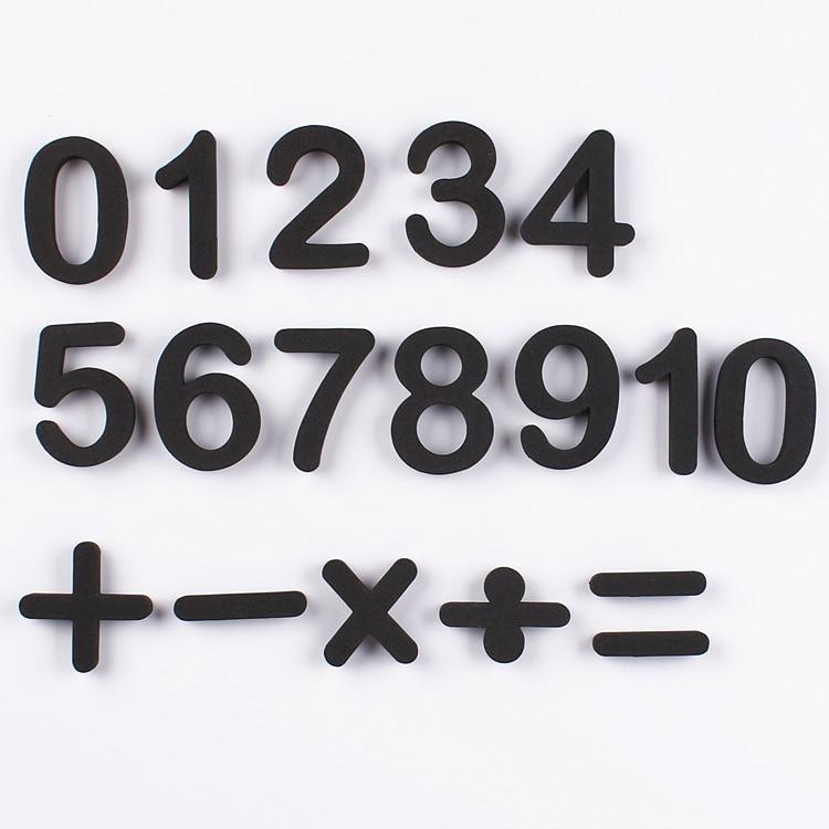 16 Pcs Math Digital Number Magnetic Sticker EVA  Fridge Numbers  Early Teaching Material Decoration Kids DIY Magnetic Sticker