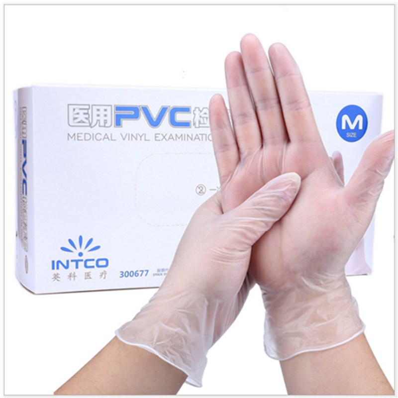 Anti Infection Gloves PVC 100pcs/pack Food Grade Waterproof Allergy Free Disposable Work Safety Gloves Ffp3 Glove Mechanic