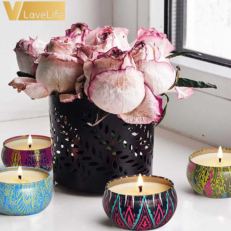 8 шт./кор. с натуральным растительным экстрактом ароматическая свеча несколько запах специй антисептик освежающий коробка Жасмин Роза расслабляющий снятия стресса