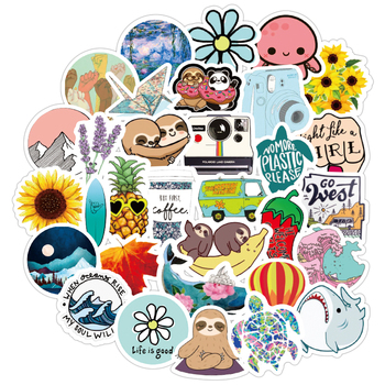 40Pcs Stickers Girl Thing Cool Waterproof Stickers For Laptop Skateboard Motorcycle car Pack Decal Girls Stickers 1000 cool stickers