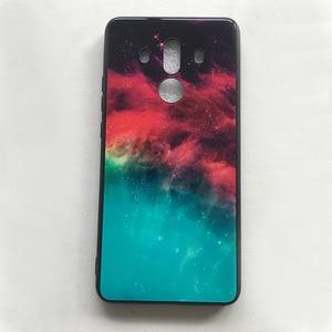 Image 5 - Voor Huawei Mate 10 Pro Case Gradiënt Gehard Glas Hard Telefoon Case Voor Huawei Mate 10 Pro Shockproof Back Cover mate10 Pro Shel