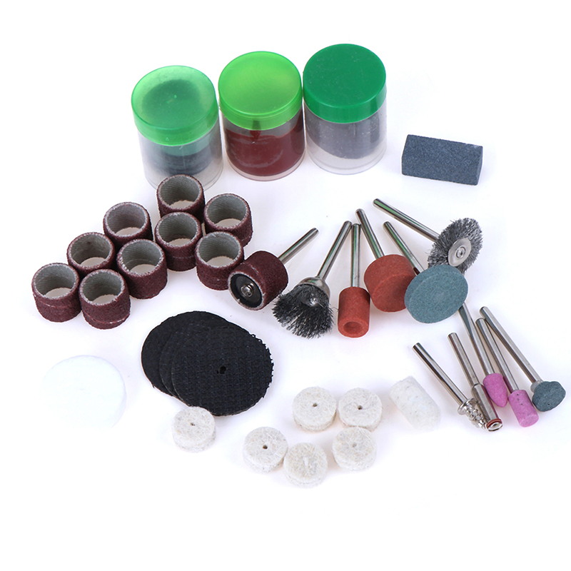 105Pcs Mini Electric Drill Grinder Rotary Tool Grinding Polishing Cutter Set