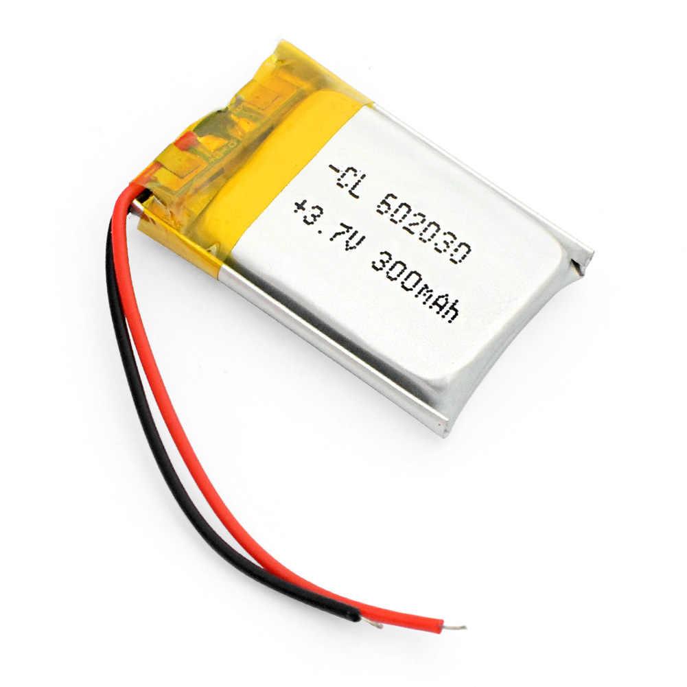 602030 מיני Lipo נטענת ליתיום סוללה 300mAh 3.7V Bluetooth MP3 אלחוטי כרטיס אודיו מקליט תא ליטיום סוללות