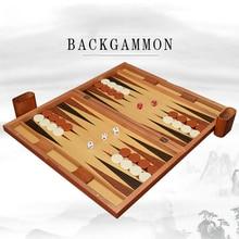 Wooden Chess Baccarat Backgammon Set 11-19 Inch Backgammon Western Chess High Quality