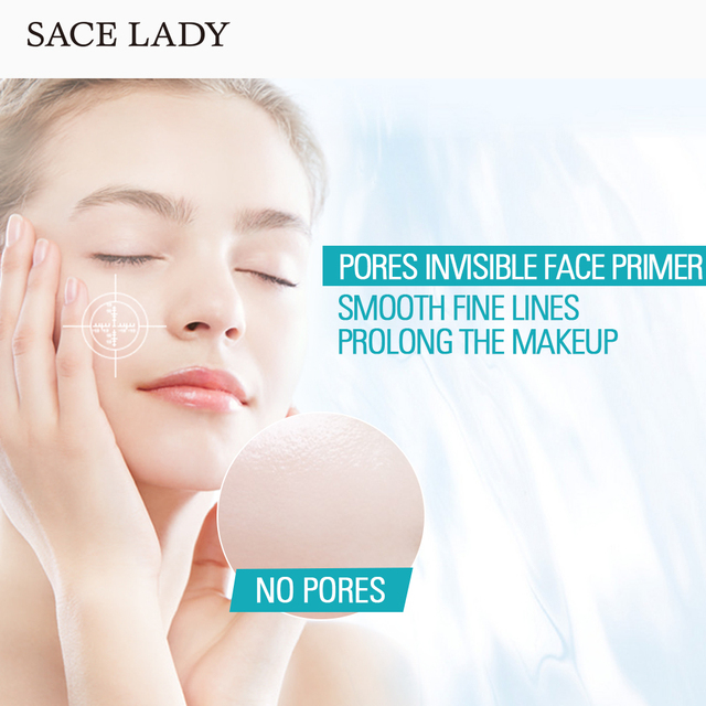 SACE LADY Face Base Primer Makeup Liquid Matte Make Up Fine Lines Oil-control Facial Cream Brighten Foundation Primer Cosmetic 5