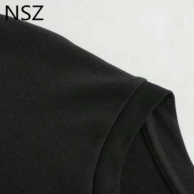 Nsz Quá Khổ Mùa Hè Đen Áo Thun Nữ Hoạt Hình Nữ Áo Femme Nữ Tay Ngắn Áo Thun Cotton Top Camisa Feminina Ropa