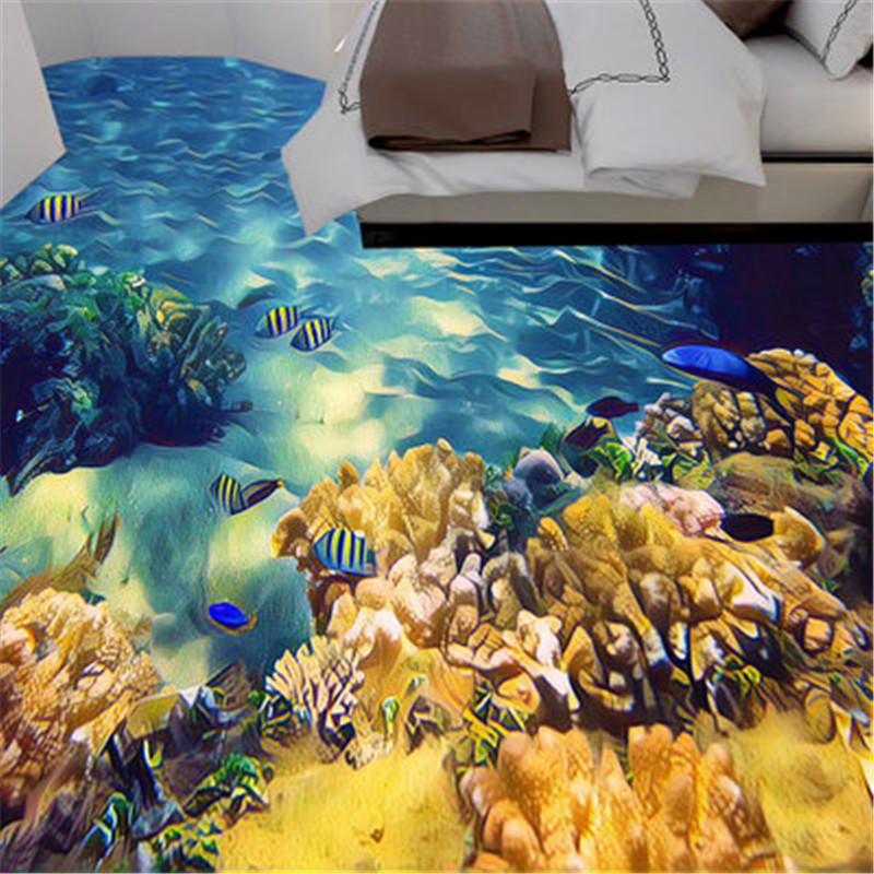 16 FISH water sea tile stickers BATHROOM WALL ART DECOR DECAL KITCHEN OCEAN