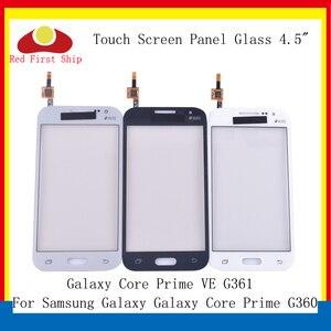 Image 1 - 10 pièces/lot écran tactile pour Samsung Galaxy Core Prime G360 écran tactile numériseur panneau capteur avant extérieur G361 G361F LCD verre