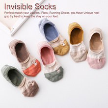 Women Embroidered Cute Rabbit Solid Color No Show Woman Socks Fashion Girls Cotton Sock Slippers 1 Pair Summer Spring Autumn недорого