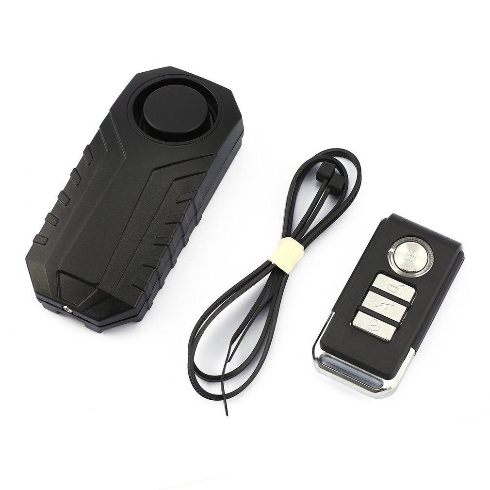 113dB Loud Wireless Bicycle Anti-theft Alarm Waterproof Door/ Window Vibration Alarm Intelligent Remote Control Alarm Sensor