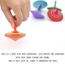 1 шт. Горячая Деревянный Цветной палец вращающийся гироскоп взрыв подарок игрушки Дети несколько цветов случайный