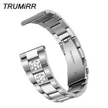 Watchband Active Samsung Strap 44mm-Band Stainless-Steel Women Trumirr for Galaxy 40mm