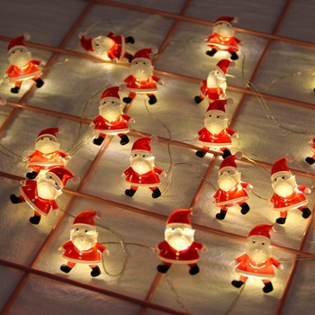 Santa Claus Christmas LED Light Merry Decorations For Home Outdoor 2020 String Xmas Tree Decor New Year Gift