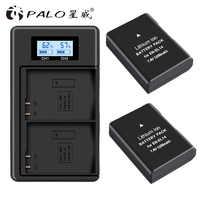 PALO 2pc EN-EL14 EN-EL14a ENEL14 es EL14 EL14a batería + LCD USB cargador Dual para Nikon D3100 D3200 D3300 d5100 D5200 D5300 P7000