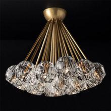 American chandelier LED creative luxury clothing store crystal ball chandelier modern minimalist villa designer living room
