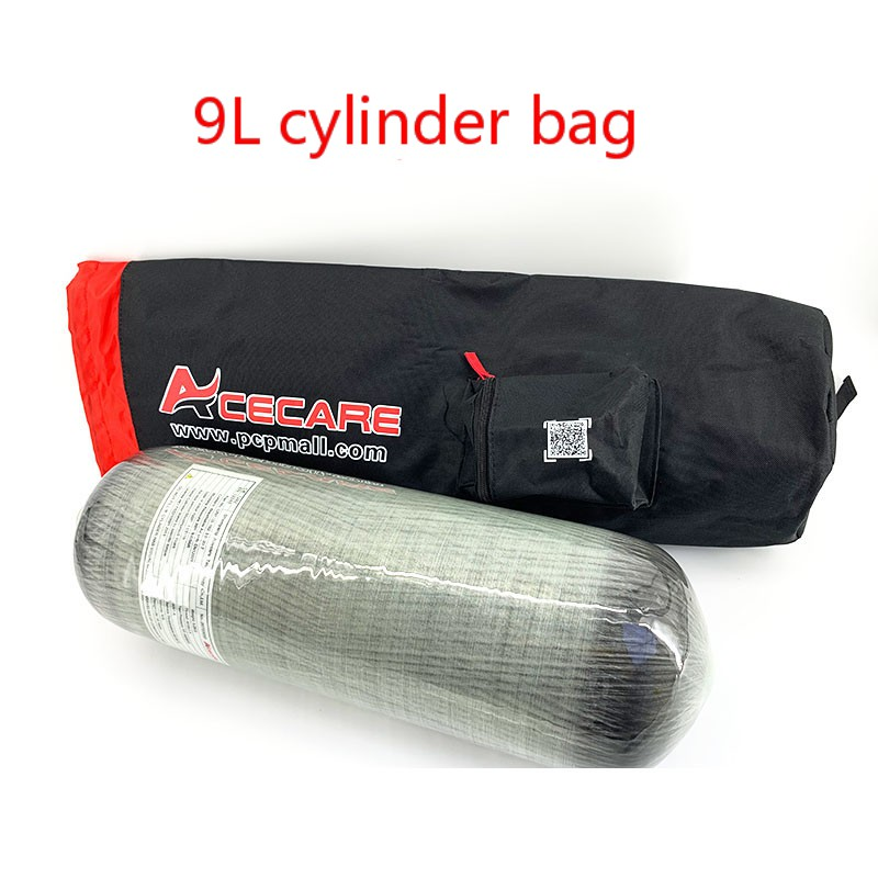 AC109005 Scuba Pcp Bag Aluminum Oxygen Tank Pcp Air Rifle 9L 4500Psi Carbon Fiber Tank Underwater Gun Speargun Spearfishing