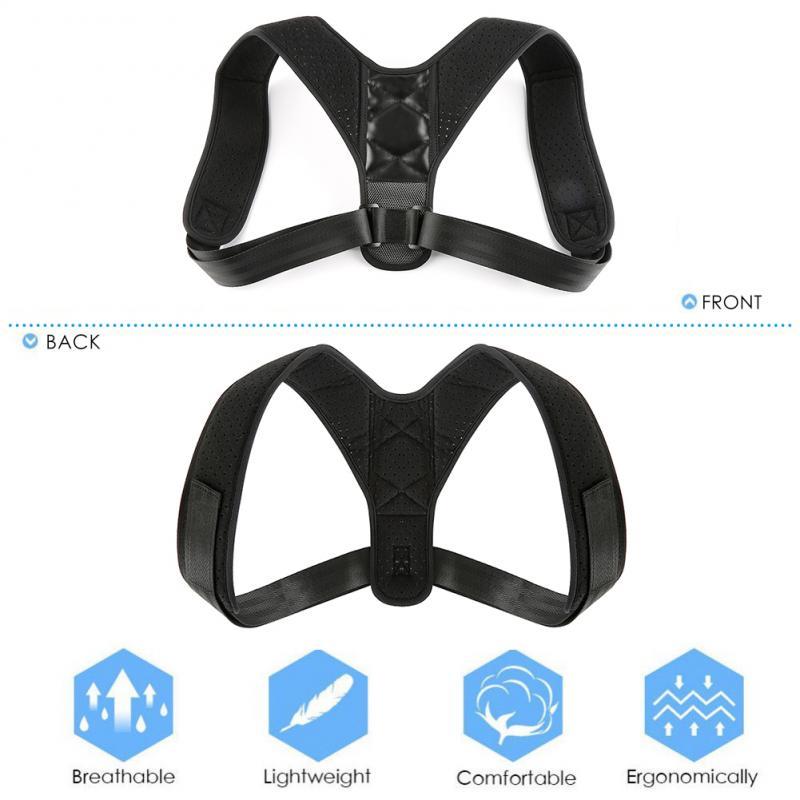 Adjustable Back Posture Correction Shoulder Corrector Support Brace Belt Unisex Body Wellness Posture Corrector Adjustable  Kits