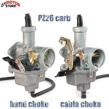 Pz26 26mm carburador carb para honda cb125 xl125s trx250 trx 250ex xr100 xr200 cg cb 125 150 cc atv quad bicicleta da sujeira motocicleta