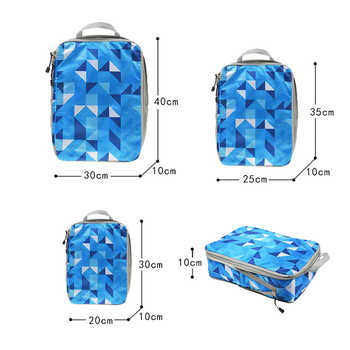 Compression Packing Cube Travel Luggage Organizer Waterproof Double Zip Color Nylon Men Women Travel Bag Hand Luggage Travel Bag