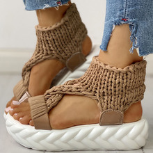 women's Flat Platform Knitting Light Comfortable Slip On Gladiator Summer