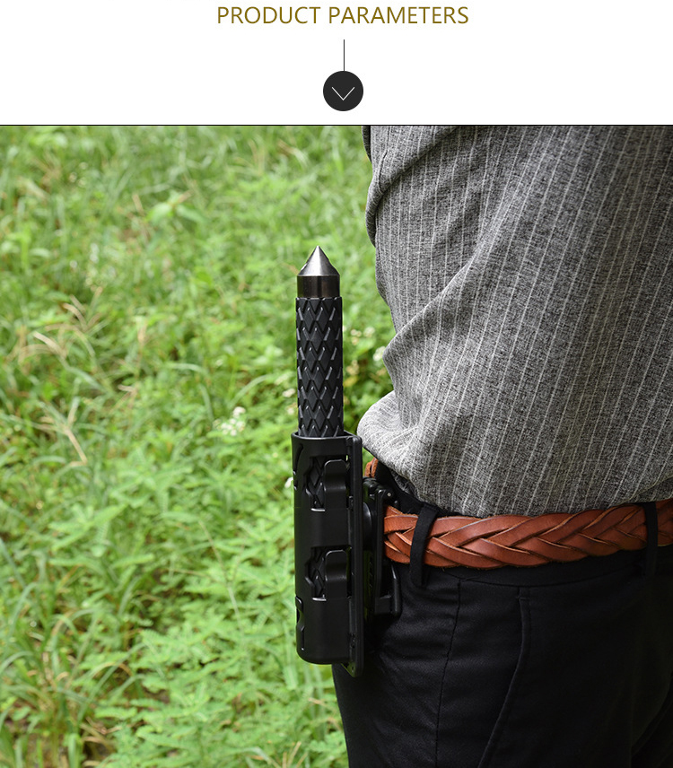 Portable Universal 360 Degree Rotation Gas Baton Case Holster Self Defense Safety Outdoor EDC Tool Black Weapon Holder Scabbard