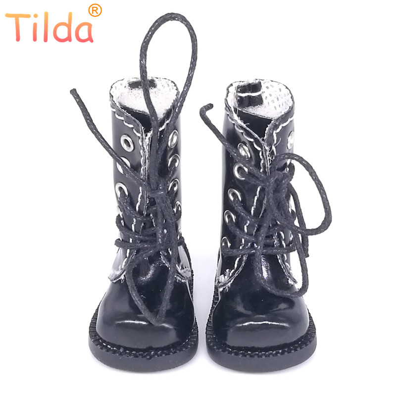 Tilda 1/6 Doll Boots Toy Shoes For Blythe Pullip Doll,4cm Mini Winter Leather Boots Shoes For Blyth Accessories For Dolls Toys