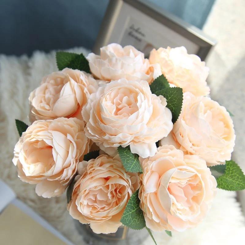 Artificial Western Rose Wrapped Peony Wedding Decoration Flower Arrangement Silk Flower Arrangement Artificial Flower Wholesale Artificial Dried Flowers Aliexpress