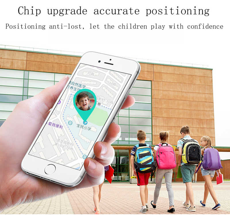 GEJIAN kids watches IPX7 waterproof touch screen SOS mobile phone call device GPS positioning tracker anti-lost children's watch