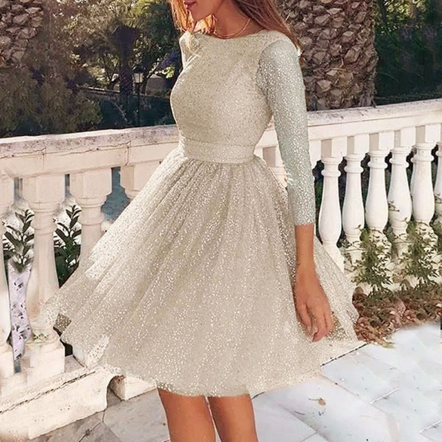 Dress Women Sling Cross Wedding O-Neck Elegant Party Evening Slim Hollow Lace Dress vestidos 2020 plus size dress Work clothes