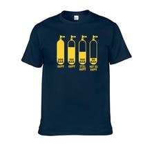 Funny T-Shirts Short-Sleeve Diver Streetwear-Tops Cotton Heartbeat Men Summer O-Neck