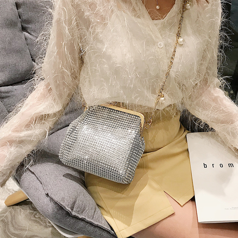 Women Luxury Handbag Women Bags Design Purse And Shoulder Messenger Bag For Party/wedding Soft Bead Diamond Evening Bag 2020 New